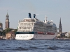 The largest cruise ship ever to be officially named in Hamburg arrives in the city today (19 July 2011) for the first time. The 2,880-guest Celebrity Silhouette will be named and launched by cruise line Celebrity Cruises on 21 July in Hamburg.