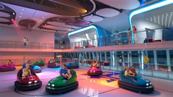 Bumpers cars o carritos chocones. Imagen Royal Caribbean.