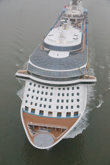 Quantum of the Seas arrives in Southampton,UK