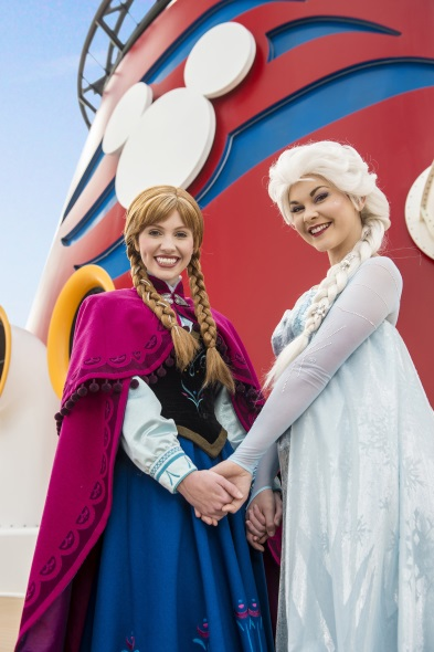 Frozen en el mar. Foto Disney Cruise Line.