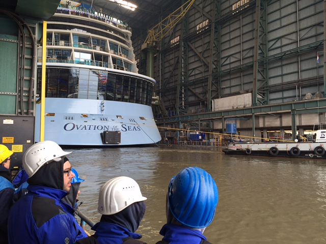 Ovation of the Seas-Float out. Foto Royal Caribbean.