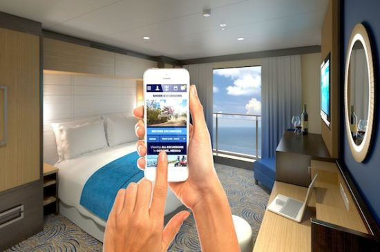 Cabina interior virtual en el Quantum of the Seas. Foto: Royal Caribbean